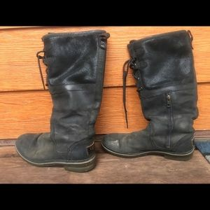 Black UGG winter boots, waterproof, leather suede